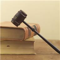 Books with gavel