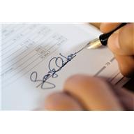 Signature on paper